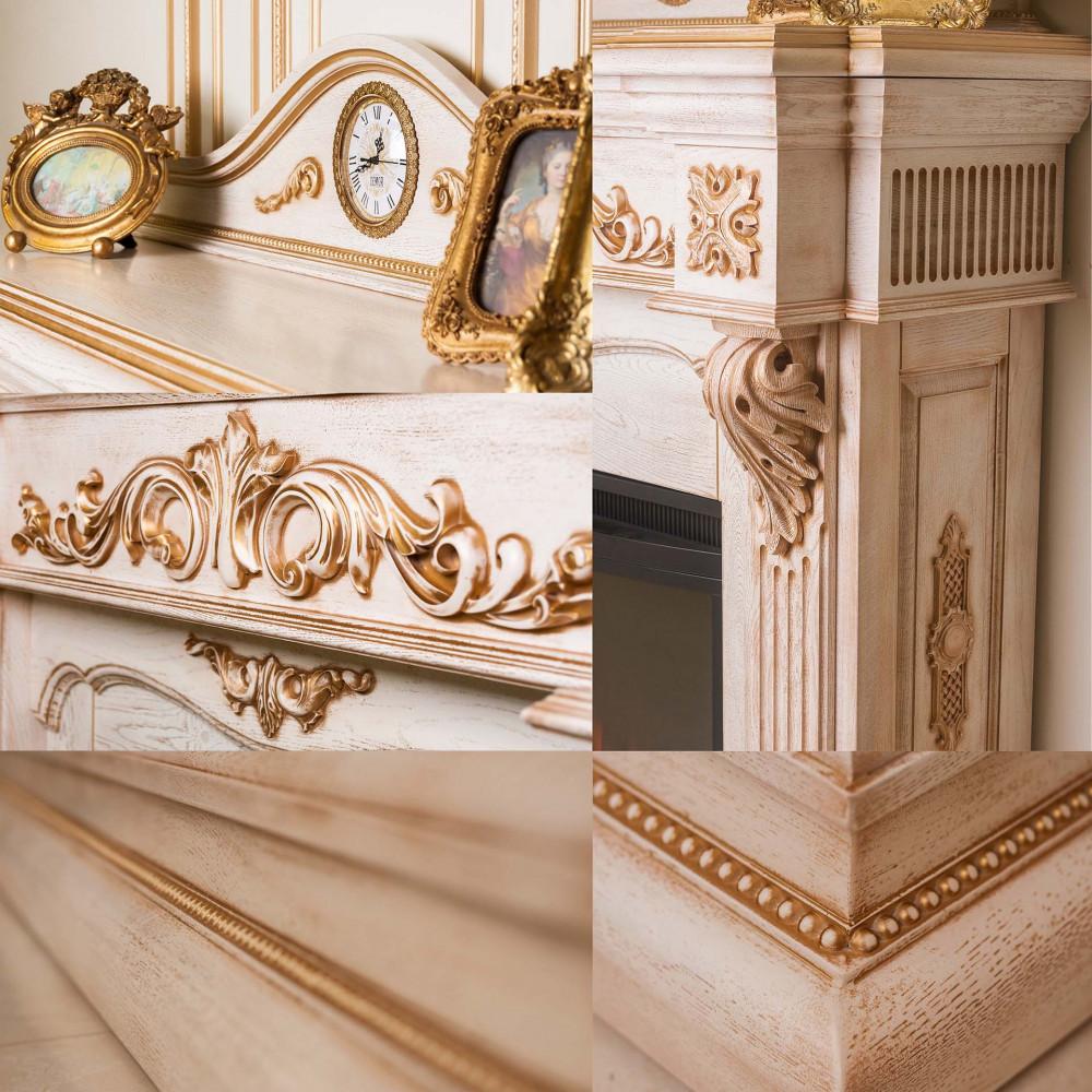 Каминокомплект IDaMebel LONDON Royal 3D Etna - Фото № 2