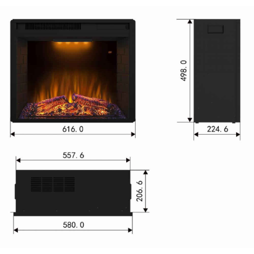 Электрокамин Royal Goodfire 23 LED (EF23S) - Фото № 2