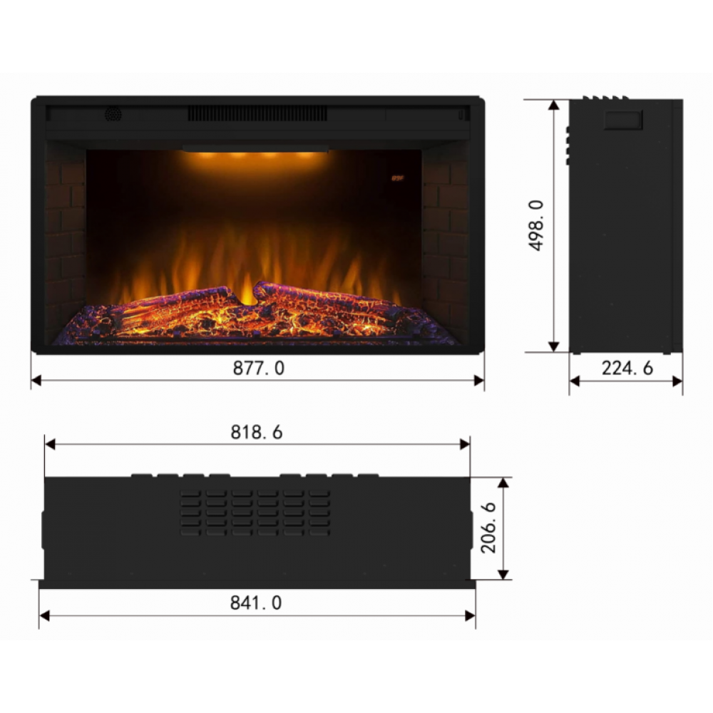 Электрокамин Royal Goodfire 33W LED (EF33WS) - Фото № 2