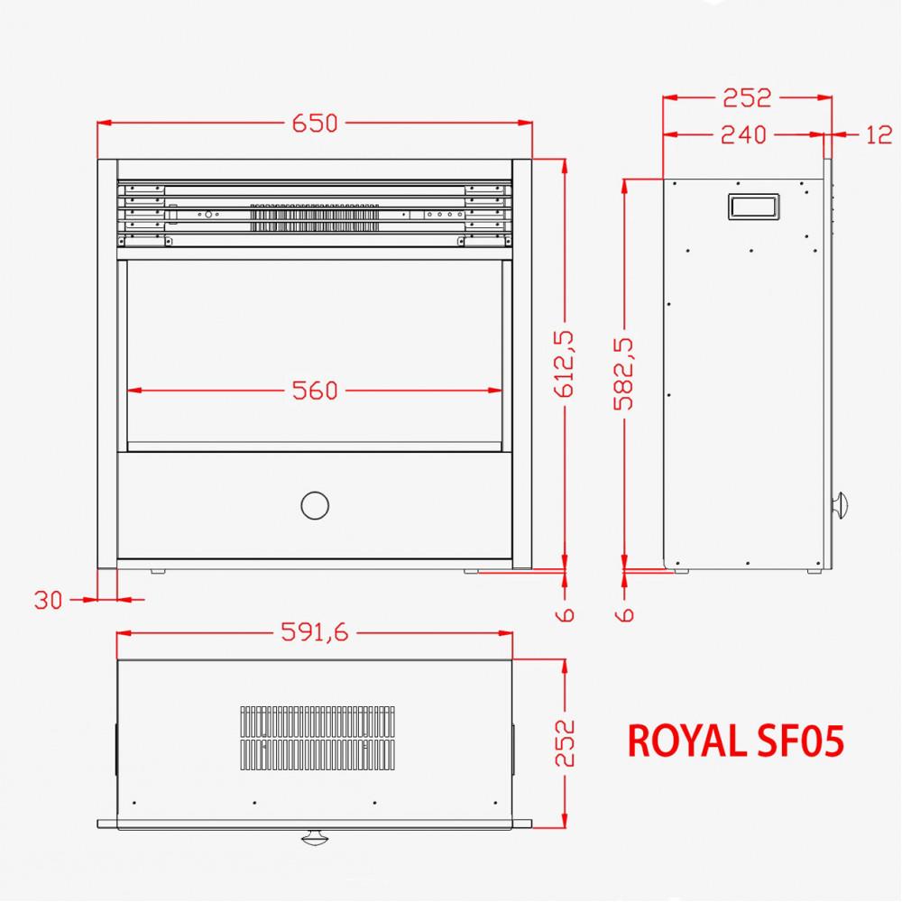 Электрокамин Royal 3D Etna SF05 - Фото № 3