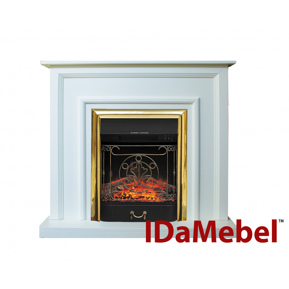 Каминокомплект IDaMebel Adele Белый Majestic Brass - Фото № 1