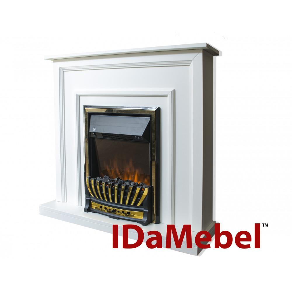 Каминокомплект IDaMebel Adele Белый Aspen Gold - Фото № 1