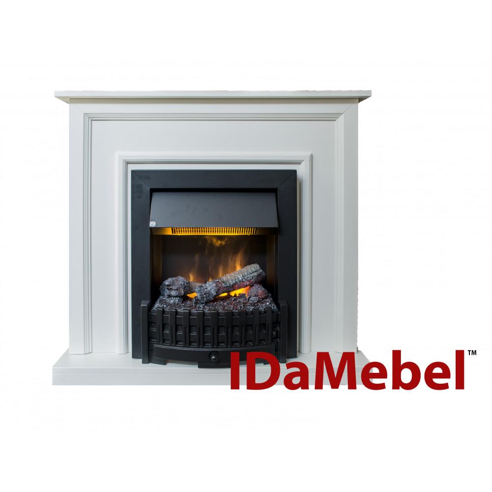 Каминокомплект IDaMebel Adele Белый Danville Black - Фото № 1