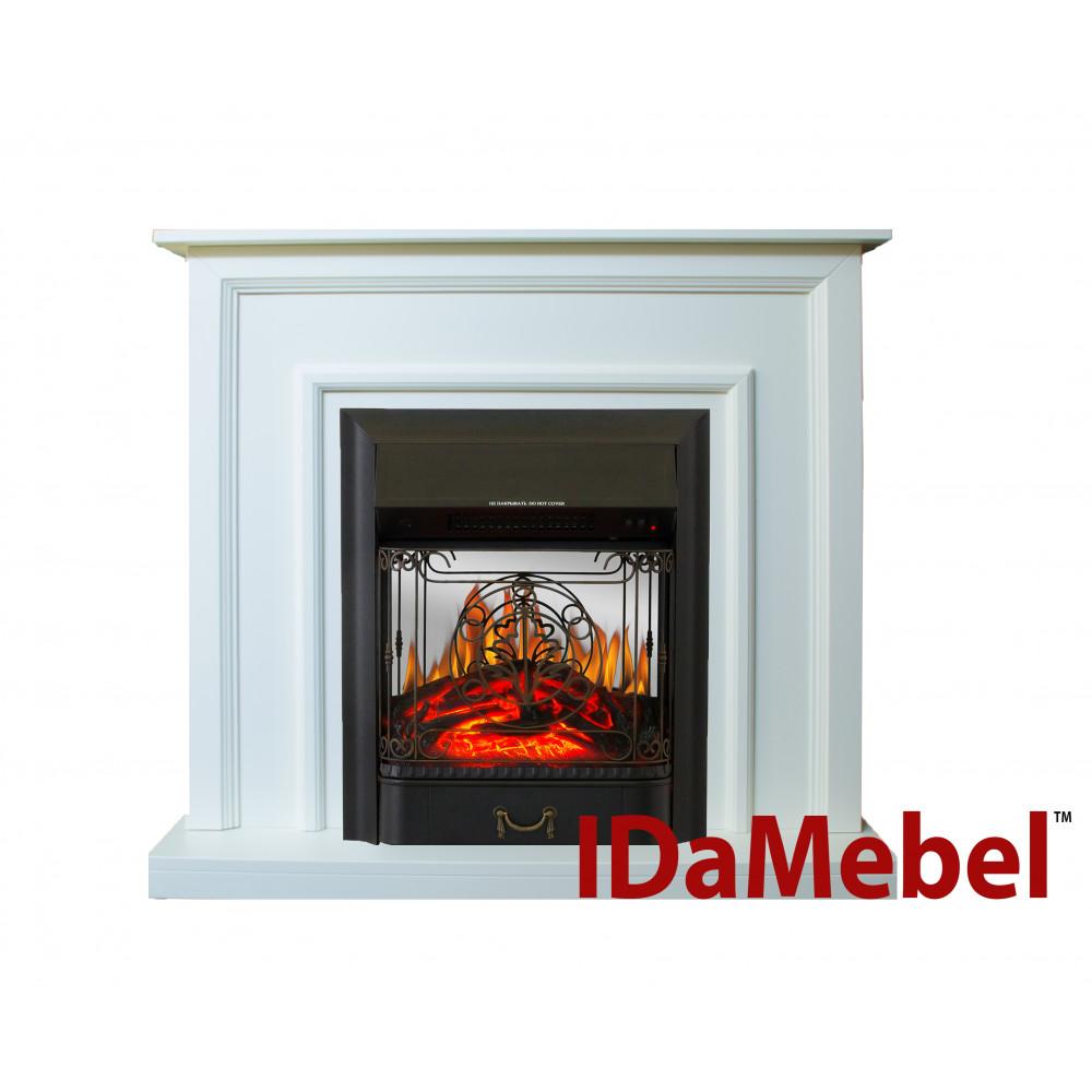 Каминокомплект IDaMebel Adele Белый Majestic Black - Фото № 1