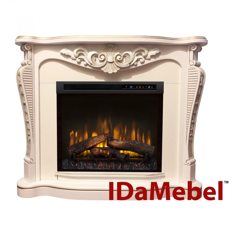 Каминокомплект IDaMebel Dallas White Dimplex XHD28 - Фото № 1