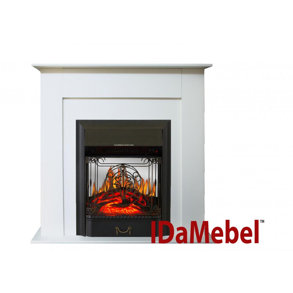 Каминокомплект IDaMebel Francheska Белый Majestic Black - Фото № 1