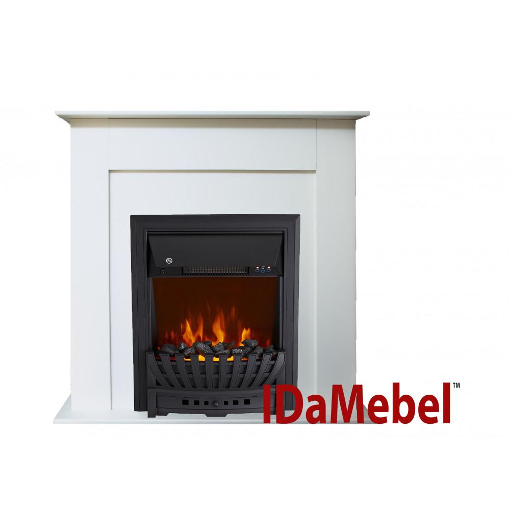 Каминокомплект IDaMebel Francheska Белый Aspen Black - Фото № 1