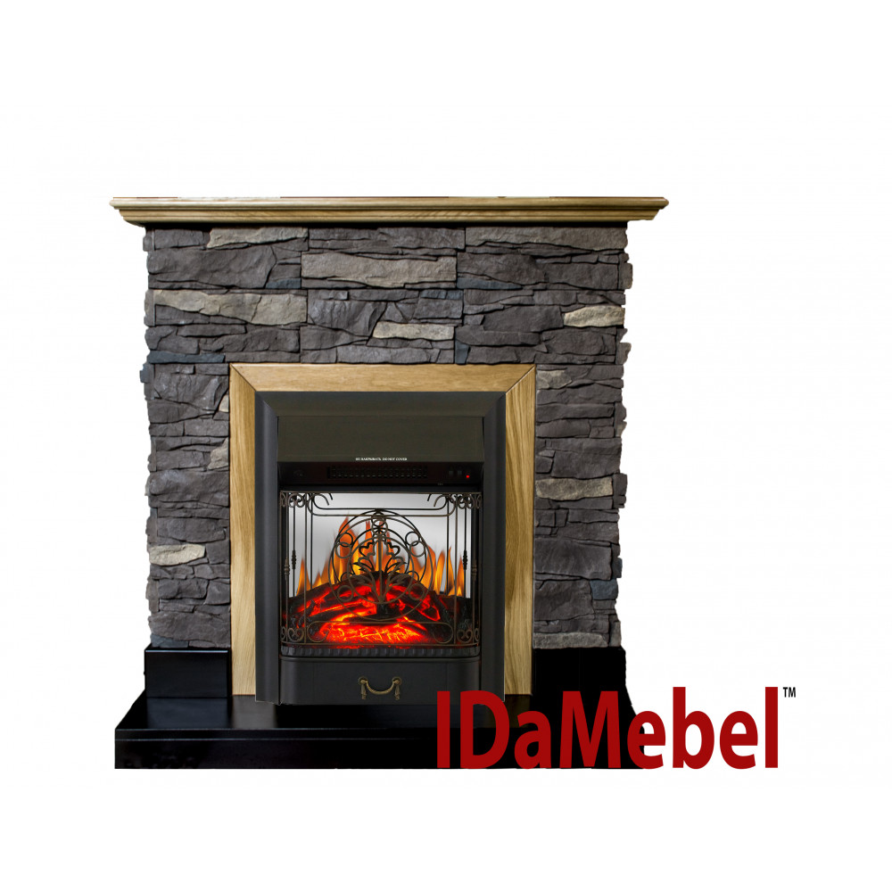 Каминокомплект IDaMebel Gemma Majestic Black - Фото № 1