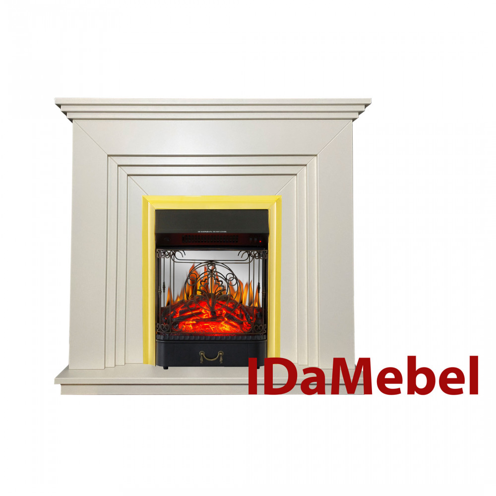 Каминокомплект IDaMebel Gloria Белый Majestic Brass - Фото № 1