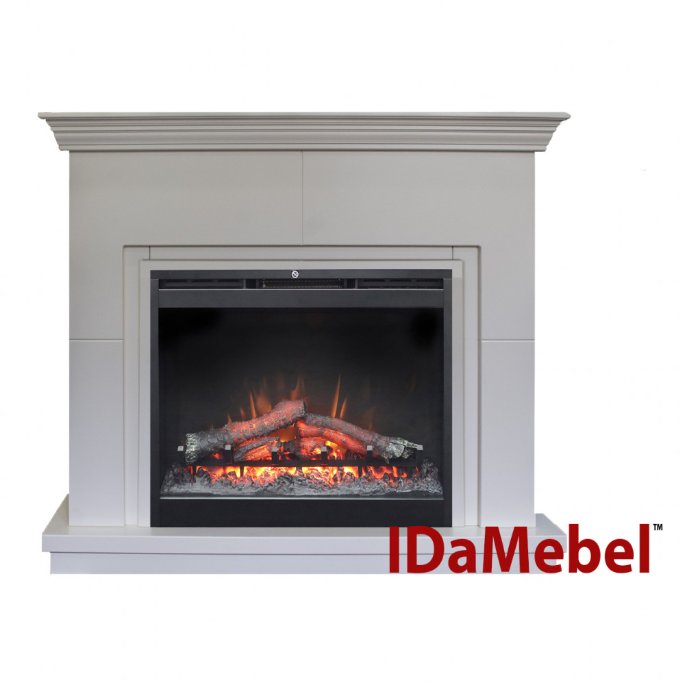 Каминокомплект IDaMebel Montreal DF2624L-INT Белый - Фото № 1