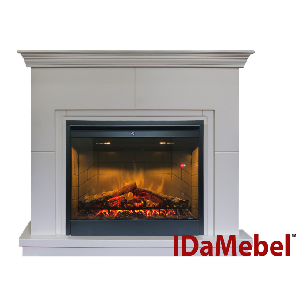 Каминокомплект IDaMebel Montreal DF2608-INT Белый - Фото № 1